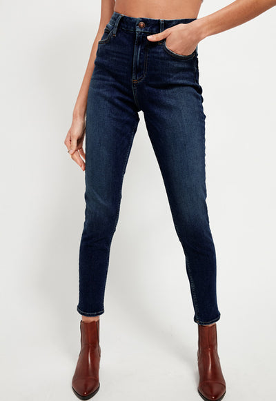 Free People - Montana Dark Wash Denim Skinny Jeans