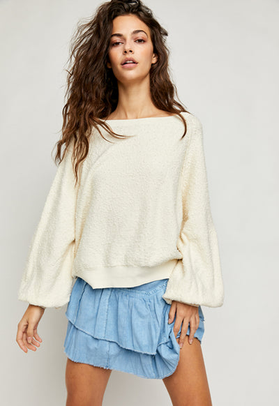 Free People - Found My Friend Pullover Cream