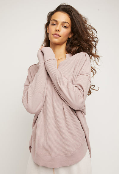 Free People - Owen Thermal Lavender Mauve