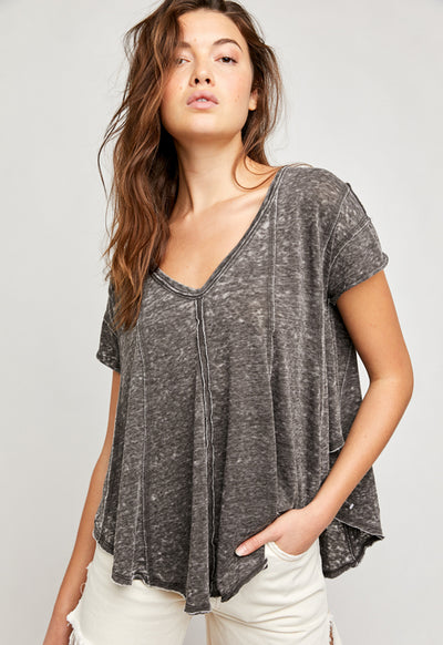 Free People - Sammie Tee Raven Feather