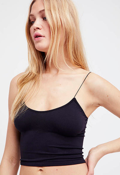 Free People - Black Spaghetti Strap Brami