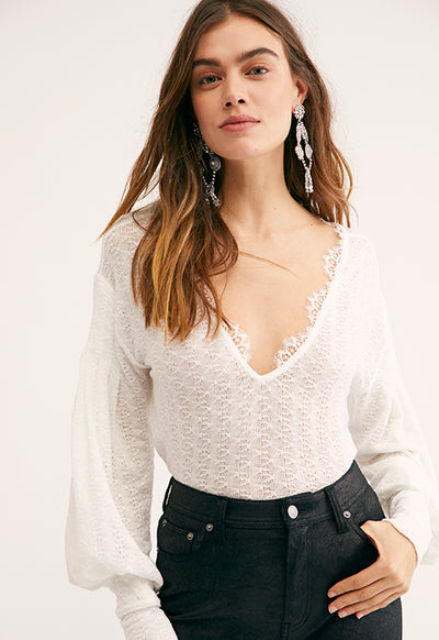 Free People - Dream Girl Ivory Top