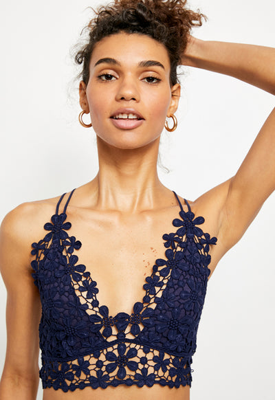 Free People - Miss Dazie Navy Bralette