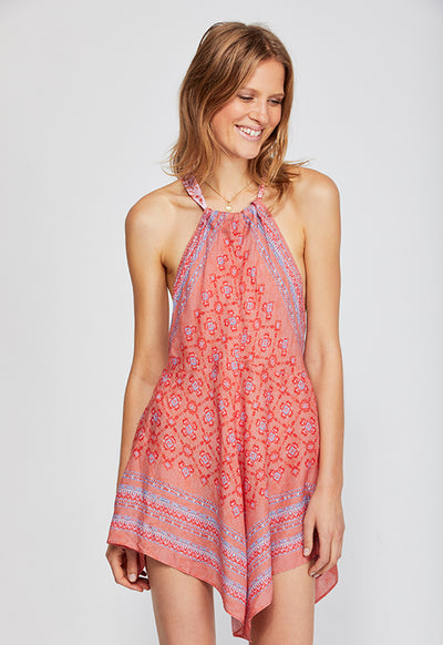 Free People - Make Me Yours Red Multi Mini Dress