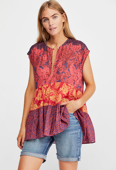 Free People - Gotta Have You Red Multi Tunic