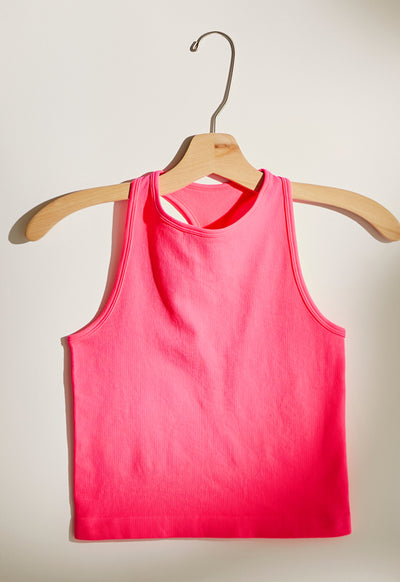 Free People - Hayley Bright Pink Racerback Top