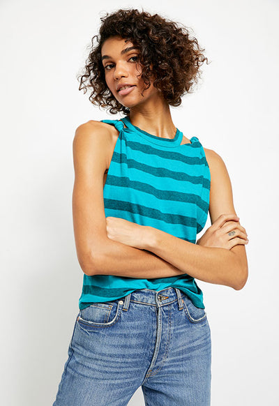 Free People - The Turquoise Stripe Twist Tunic