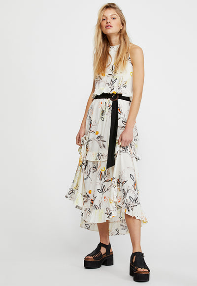 Free People - Anita Ivory Multi Print Maxi Dress
