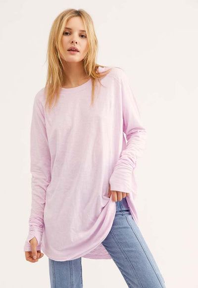 Free People - Arden Tee Orchid Light