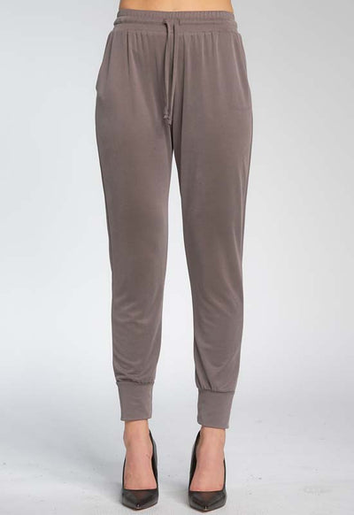 Elan - Jogger Pants with Tie Walnut