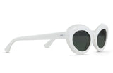 RAEN Ashtray- Unisex White Framed Sunglasses
