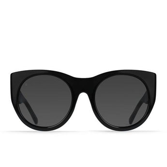 RAEN Durante- Women's Black Frame Smoke Sunglasses