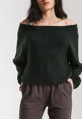 Rag Poets - Pine Green Bergen Sweater
