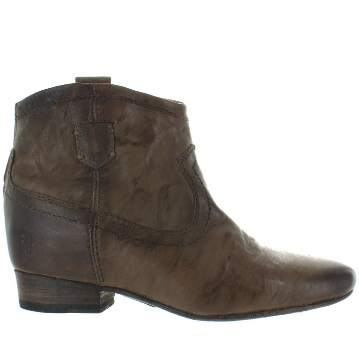 Frye Boot Monica - Taupe Leather Back Zip Bootie