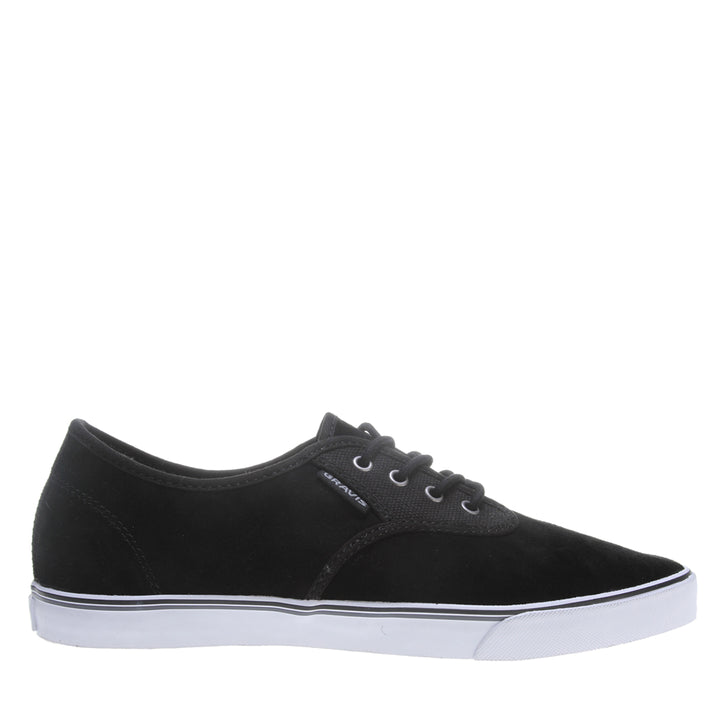 Gravis Slymz Suede - Black Low-Top Sneaker