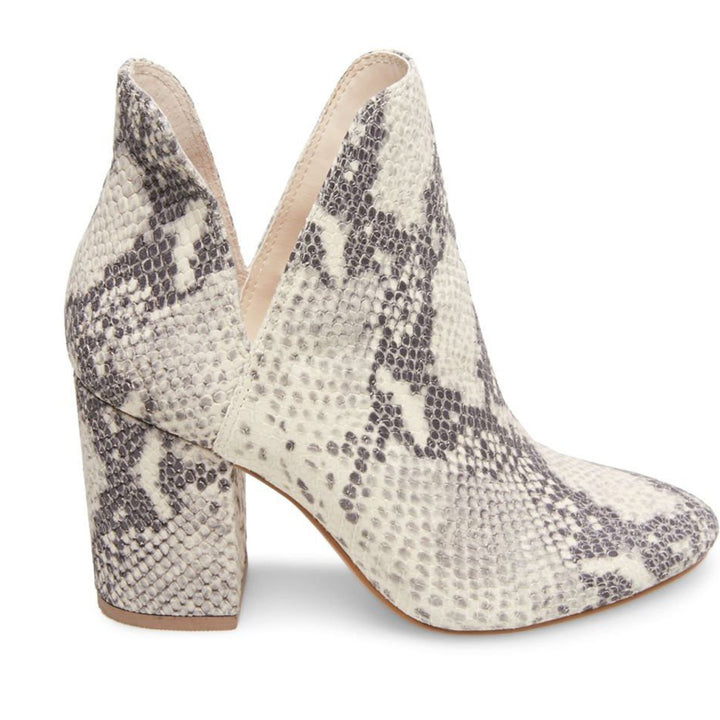 Steve Madden Rookie - Natural Snake Print Dual Open Side V Pull-On Bootie