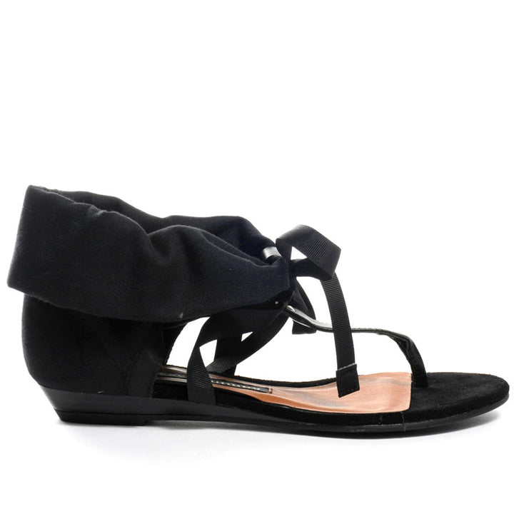 Chinese Laundry Suduko - Black Suede Wedge Sandal