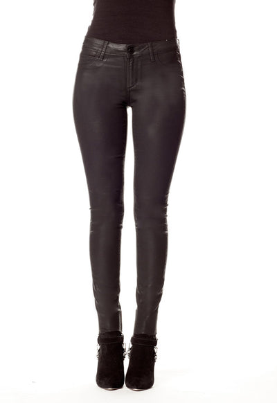 Articles Of Society - Sarah Skinny Bryce Black Coated Denim Jeans