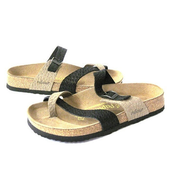 Papillio Tabora - Black Taupe Footbed Sandals