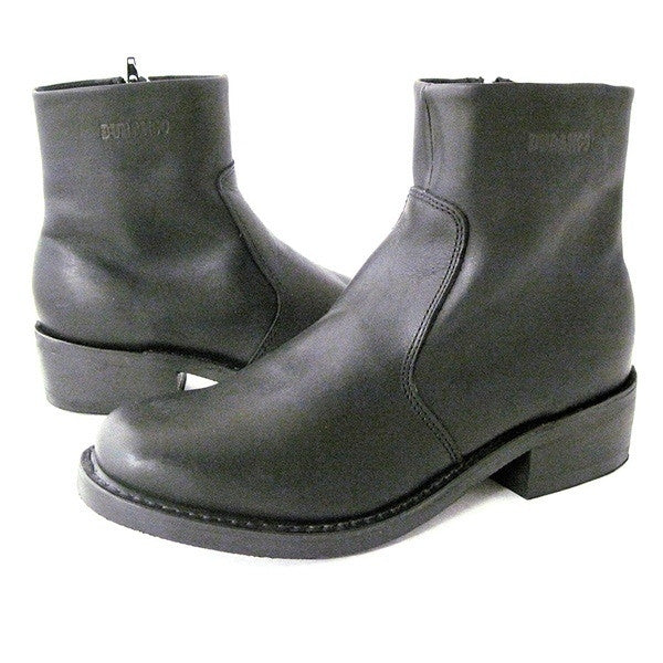 Durango Side Zipper Boot - Black Leather