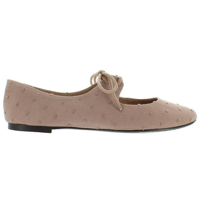Restricted Scrabble - Natural Bowtie Ballet Flat