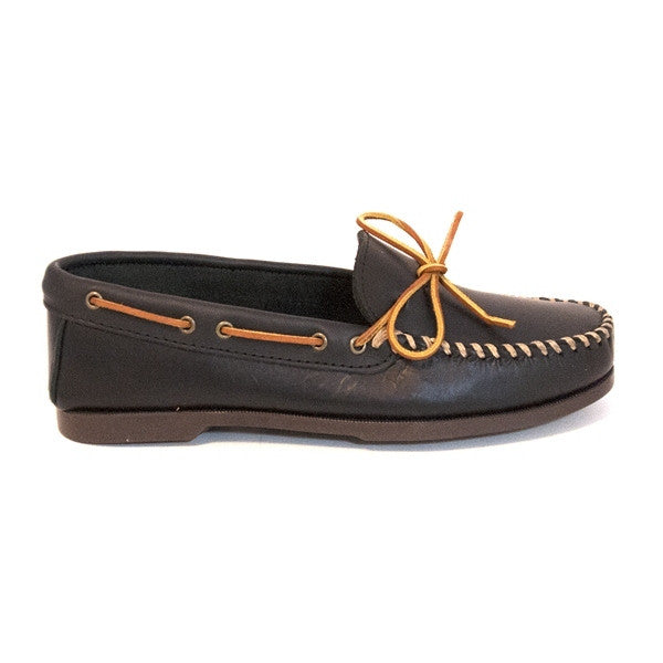 Minnetonka Camp Moc - Black Leather Moccasin