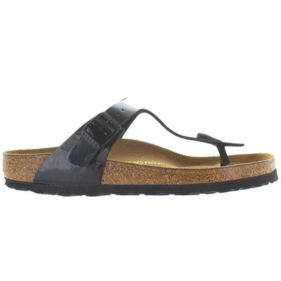 Birkenstock Gizeh - Black Patent Leather Thong Slip-On Footbed Sandal