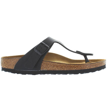 Birkenstock Gizeh - Black Leather Thong Slip-On Footbed Sandal