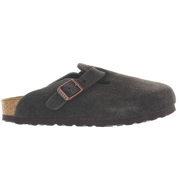 Birkenstock Boston - Mocha Suede Slip-On Footbed Clog
