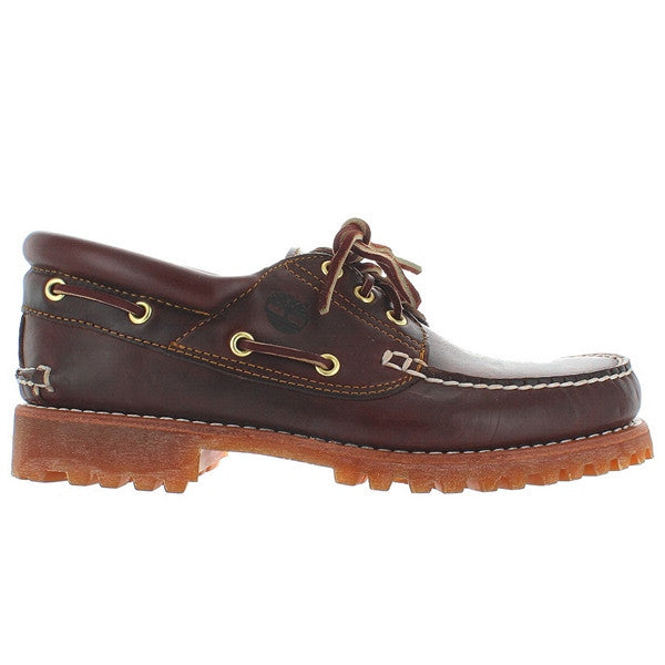 Timberland Earthkeepers Handsewn Classic - Brown Leather Traditional 3-Eye Lug Boat Shoe
