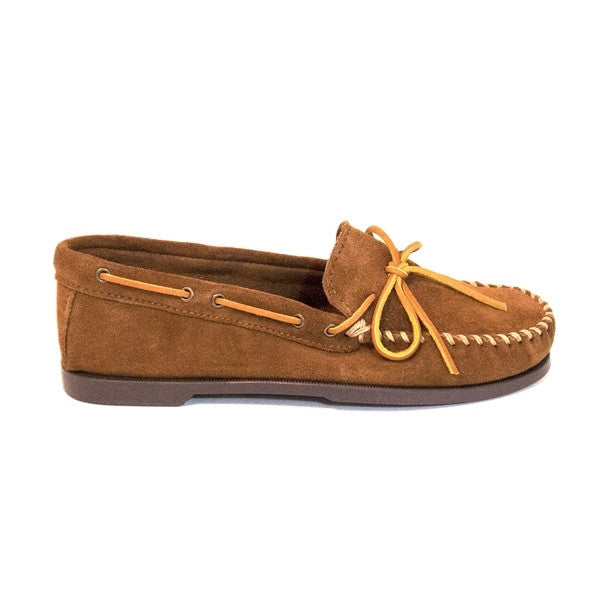 Minnetonka Camp Moc - Dusty Brown Suede Moccasin