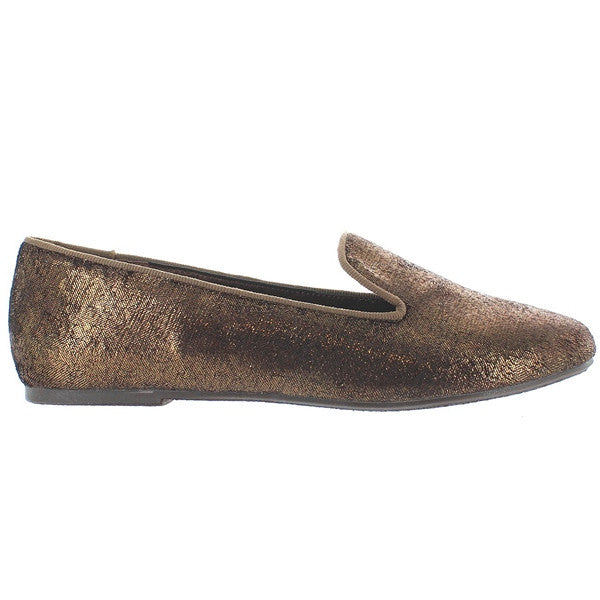 Wanted Ritzy - Bronze Glitzy Slip-On Loafer