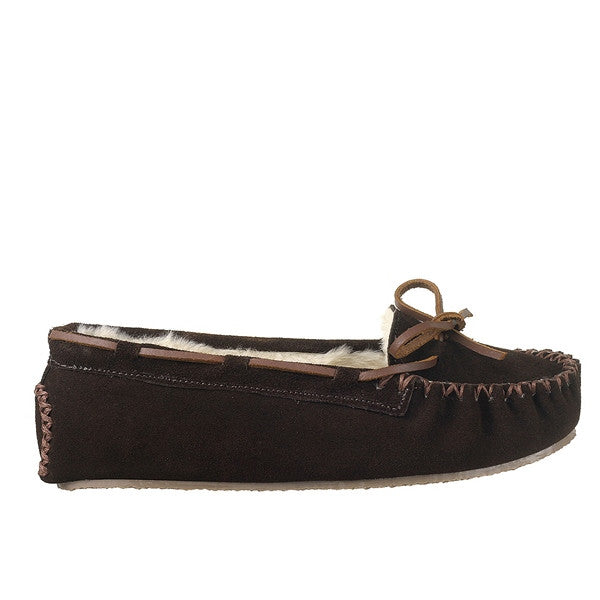 Minnetonka Cally Slipper - Chocolate