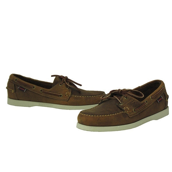 Sebago Docksides - Brown / White sole