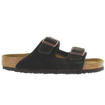 Birkenstock Arizona - Mocha Suede Dual Buckle Slip-On Footbed Sandal