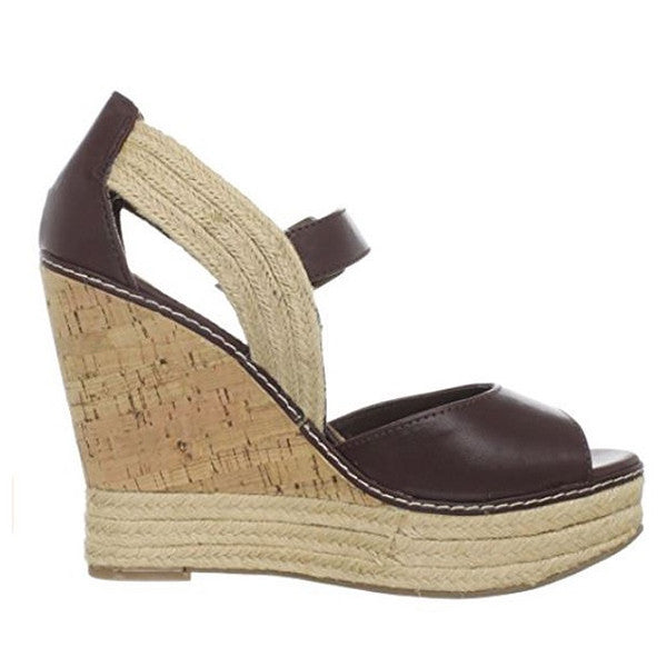 MIA Rhodes - Brown Wedge Sandal