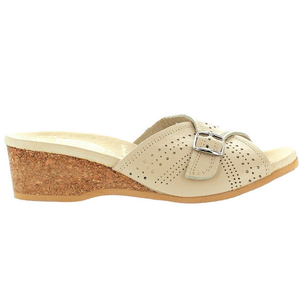 Worishofer 251 - Opal Leather Slip-On Wedge Sandal