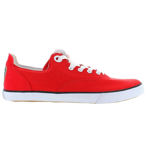 Puma Limnos - Red/Black Canvas Low-top Sneaker