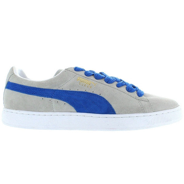 low priced 088ec d0e31 Puma Suede Classic- Limestone Grey/Royal Blue Sneaker