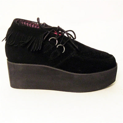 YRU Elf - Black Platform Shoe