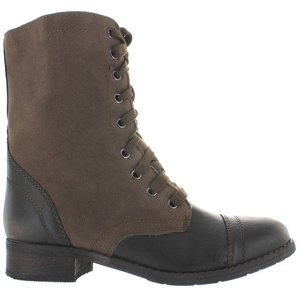 Wanted Forge - Khaki/Black Distressed Combat Boot