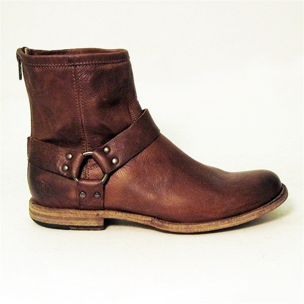 Frye Boot Phillip Harness - Brown Short Boot