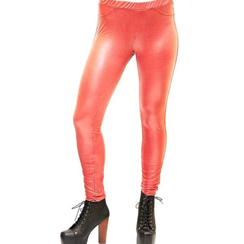 Hue Lacquer-Red Fitted Legging