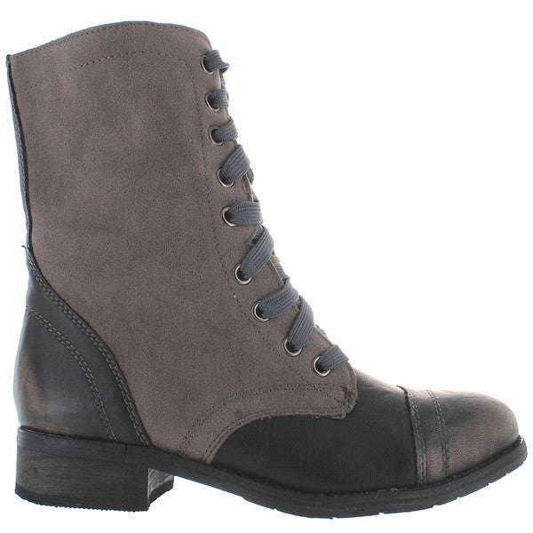 Wanted Forge - Black/Grey Distressed Combat Boot