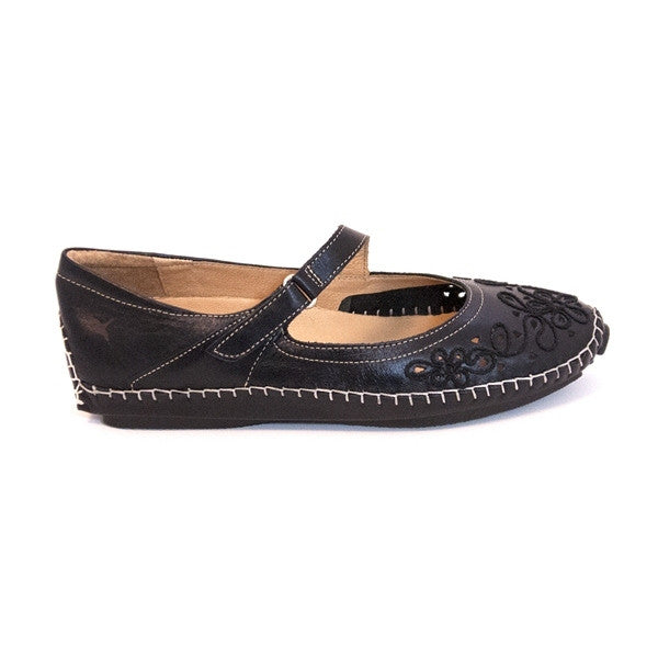 Pikolinos Jerez- Black Mary-Jane Loafer