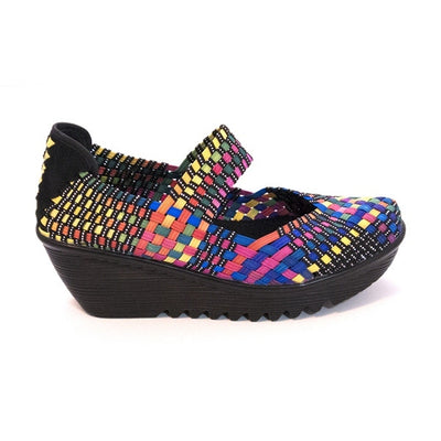 Bernie Mev Lulia - Black / Multi Mary-Jane Wedge