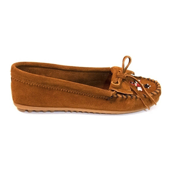 Minnetonka Thunderbird II - Brown Suede Moccasin Loafer