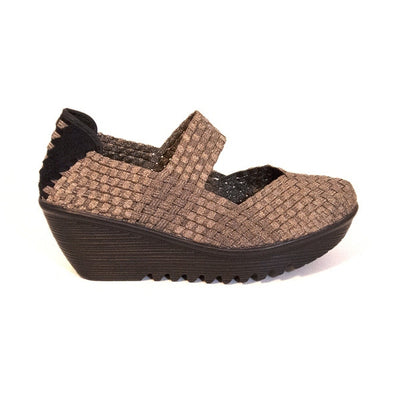 Bernie Mev Lulia - Bronze Mary-Jane Wedge