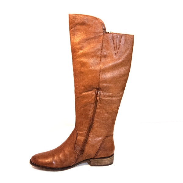 346ac1f5a63 Steve Madden Shawny - Brown Leather Knee-High Riding Boot