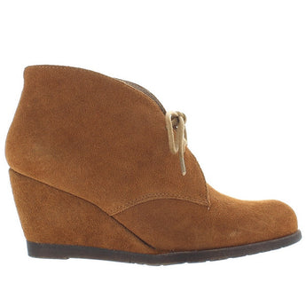 Chelsea Crew Sorority - Tan Suede Wedge Bootie